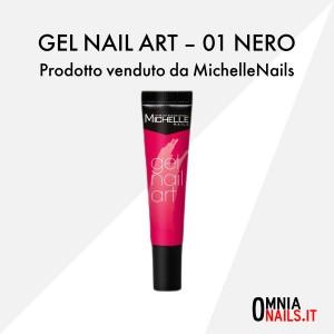 Gel nail art – 01 nero
