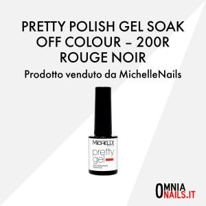 Pretty polish gel soak off colour – 200R rouge noir