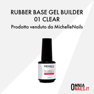 Rubber base gel builder – 01 clear trasparente