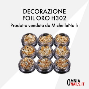 Decorazione foil oro H302