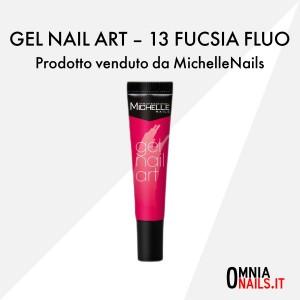 Gel nail art – 13 fucsia fluo