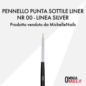 Pennello punta sottile liner nr 00 – linea silver
