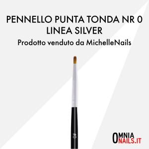 Pennello punta tonda nr 0 – linea silver